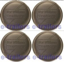 4 x IFOR WILLIAMS 75mm BLACK GREASE DUST CAP 1992 - 1996 GENUINE PART